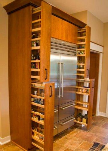 Custom cabinet storage option