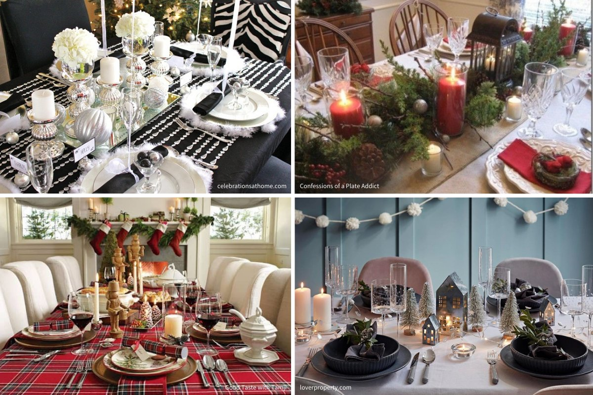 holiday decorating tips: table scapes