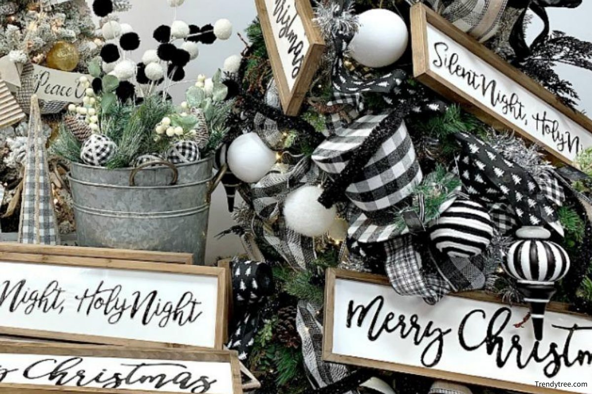 holiday decorating tips: black and white
