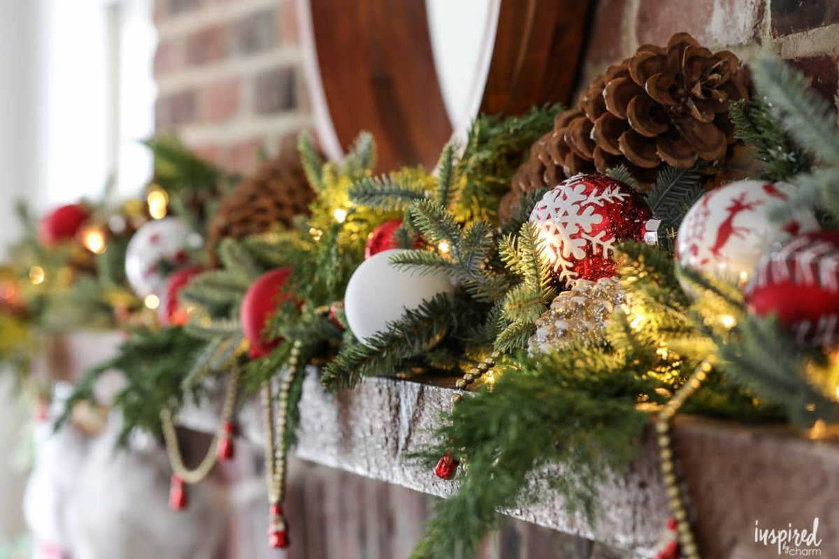 holiday decorating tips: fireplace mantels